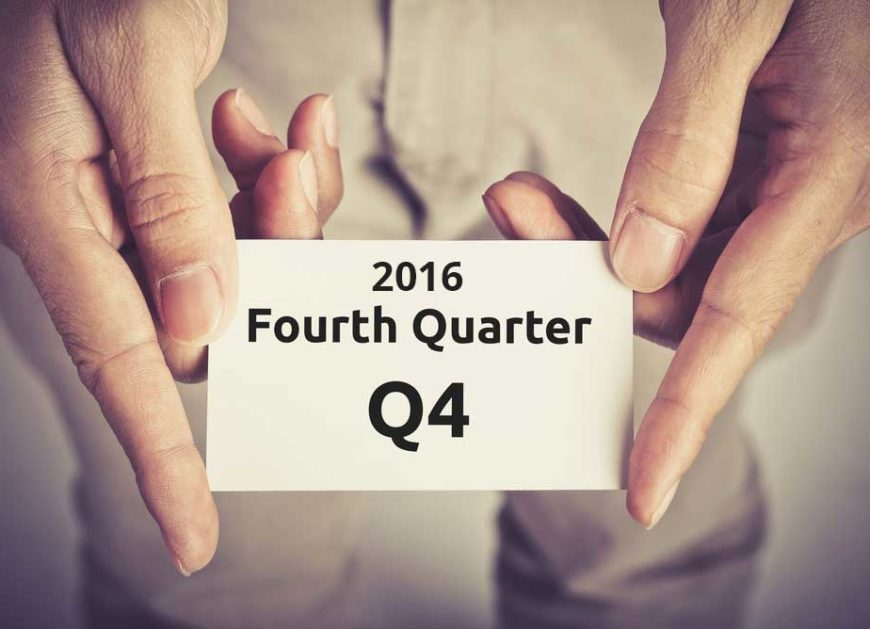 2016's Q4 earnings
