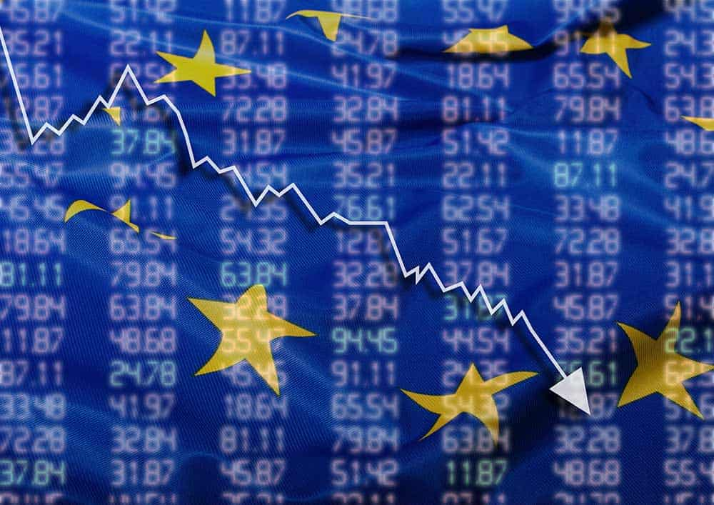 European shares fell
