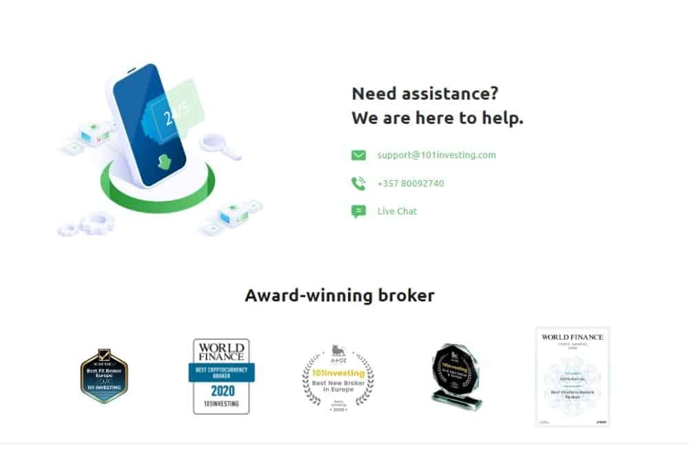 Support Assistance of Oinvest Broker