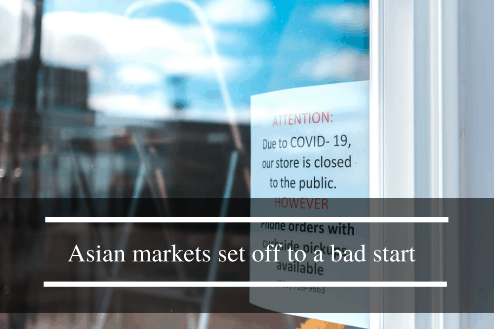 Asian markets set off to a bad start due to pandemic