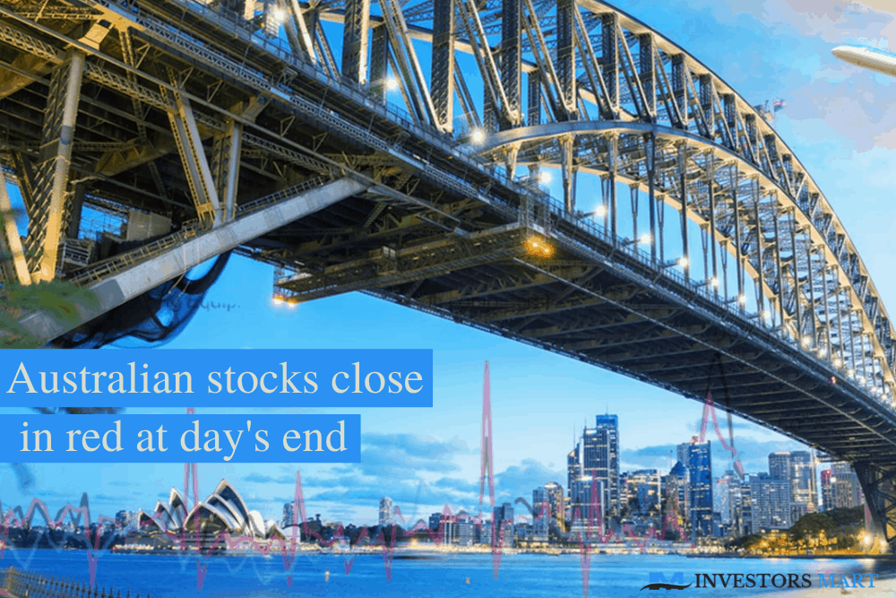Australian stocks close in red at day's end