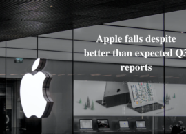 Apple falls despite better than expected Q3 reports