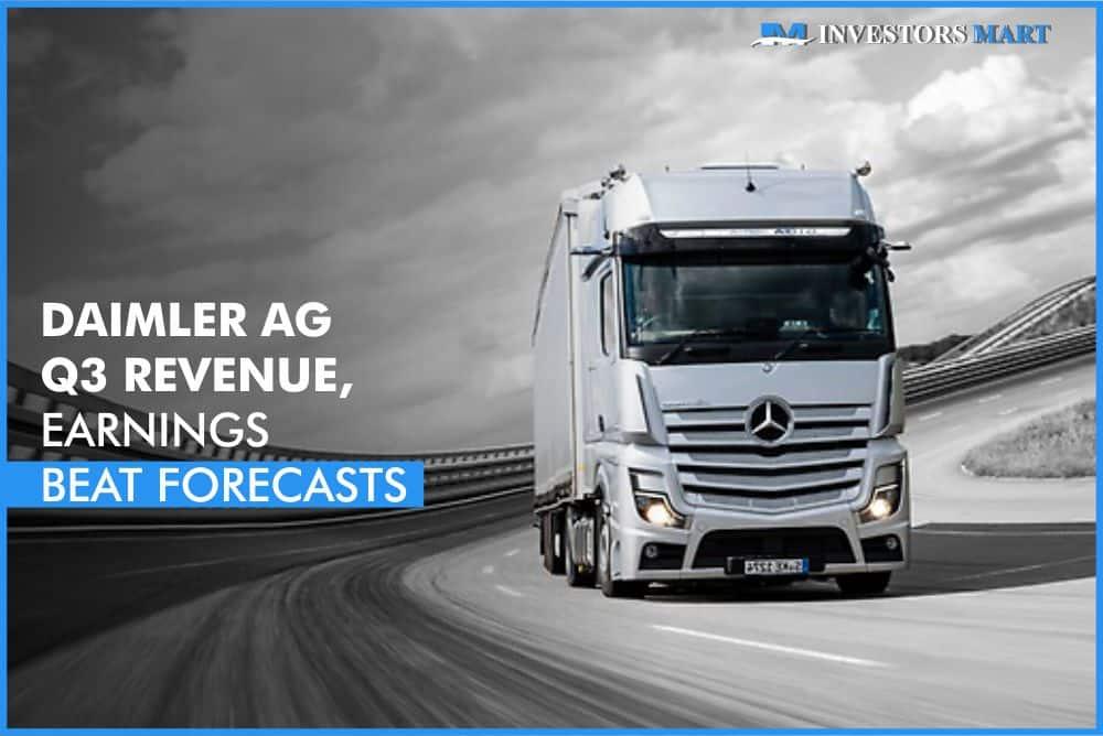 Daimler AG Q3 revenue, earnings beat forecasts