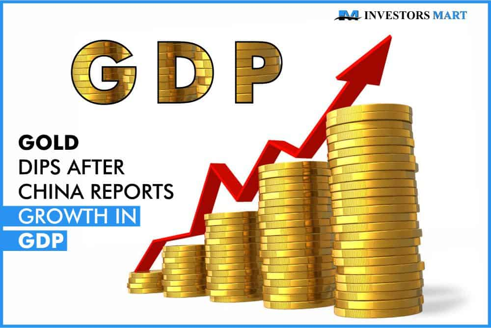 Gold dips after China reports growth in GDP