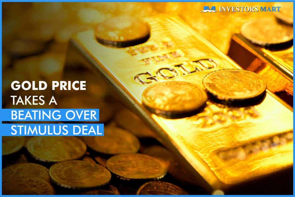 Gold price takes a beating over stimulus deal