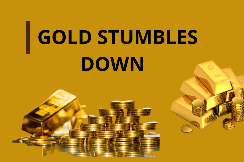 Gold stumbles down after stimulus deadlock
