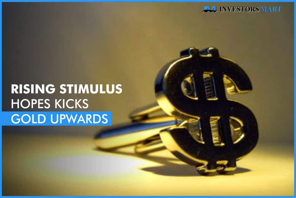 Rising stimulus hopes kicks gold upwards