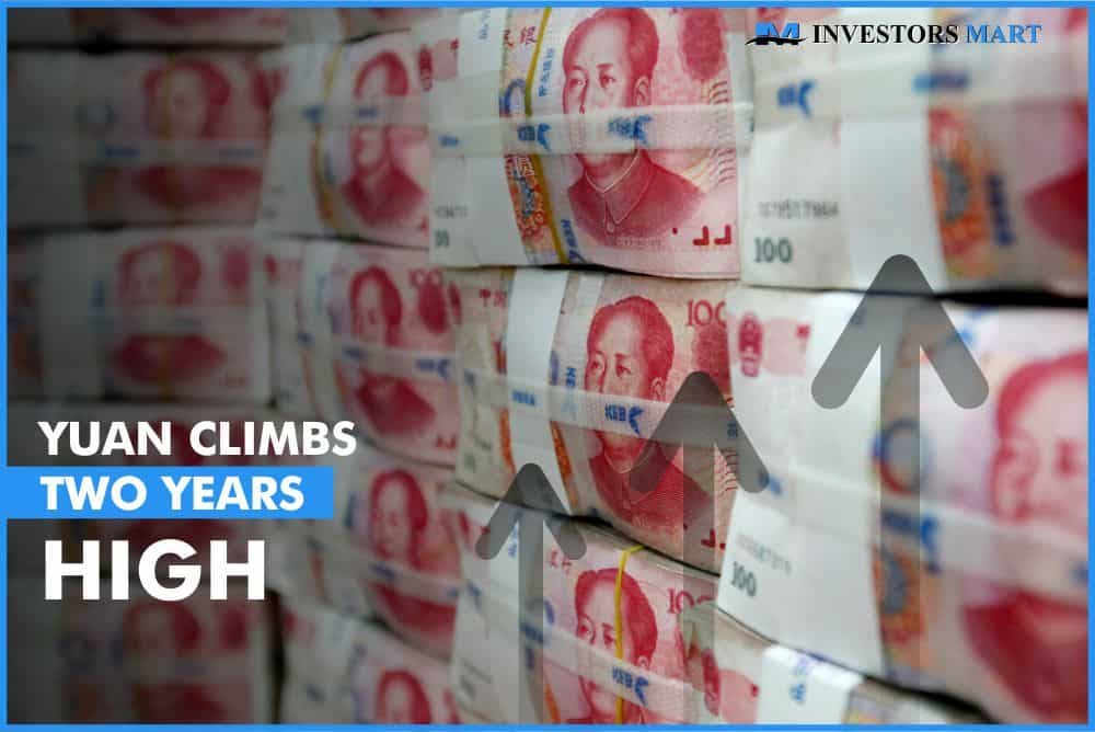 Yuan climbs two years high