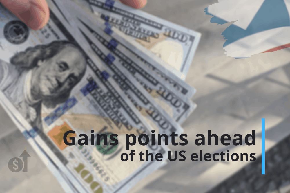 Dollar gains points ahead of the US elections
